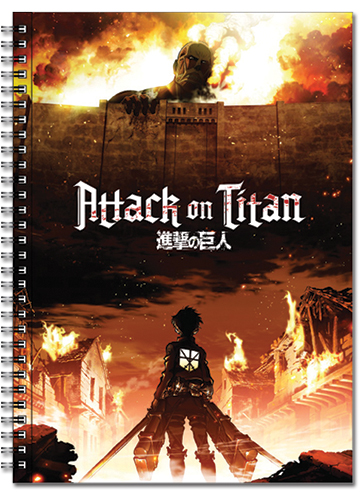 Attack On Titan - Key Visual Spiral Notebook officially licensed product at B.A. Toys.