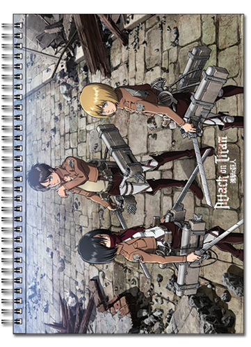 Attack On Titan - Main 3 Spiral Notebook, an officially licensed Attack On Titan product at B.A. Toys.