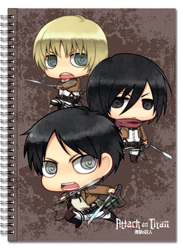Attack On Titan - Main 3 + Titan Spiral Notebook officially licensed product at B.A. Toys.