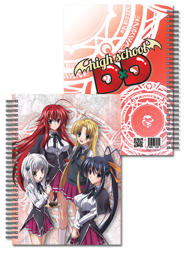 High School Dxd - Girls Spiral Notebook officially licensed High School Dxd Stationery product at B.A. Toys.