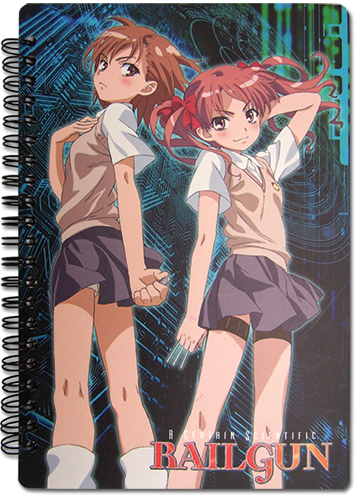 A Certain Scientific Railgun Misaka & Kuroko Sprial Notebook, an officially licensed product in our A Certain Scientific Railgun Stationery department.