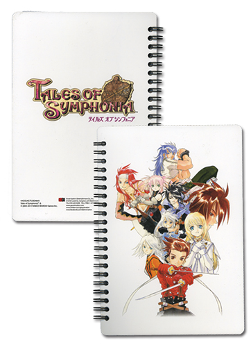 Tales Of Symphonia - Ps2 Keyart 2 Spiral Noteboook, an officially licensed product in our Tales Of Symphonia Stationery department.