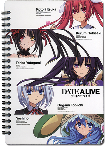 Date A Live - Main 4 Kurumi Spiral Notebook officially licensed Date A Live Stationery product at B.A. Toys.