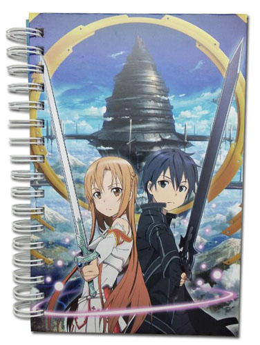 Sword Art Online - Kirito & Asuna Hardcover Notebook officially licensed Sword Art Online Stationery product at B.A. Toys.
