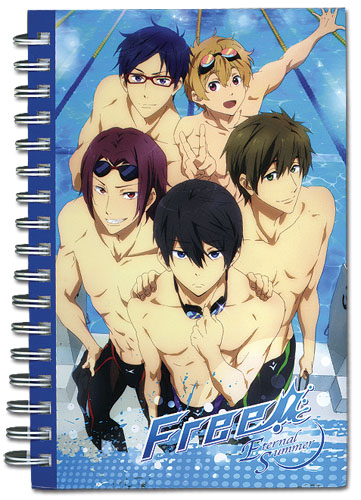 Free! - Group Swimsuit Hardcover Notebook officially licensed Free! Stationery product at B.A. Toys.