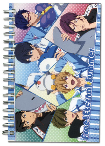 Free! - Group With Doll Hardcover Notebook officially licensed Free! Stationery product at B.A. Toys.