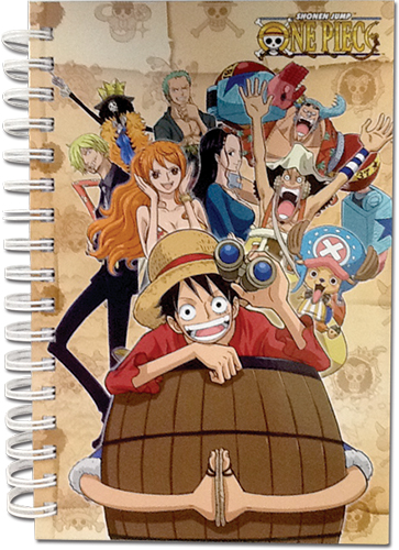 One Piece - Punk Hazard Group Hardcover Notebook officially licensed One Piece Stationery product at B.A. Toys.