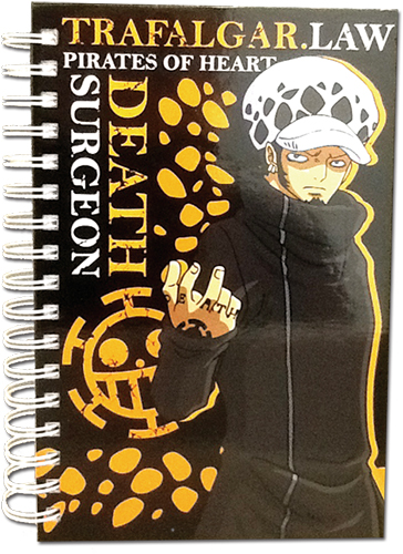 One Piece - Law Hardcover Notebook officially licensed One Piece Stationery product at B.A. Toys.