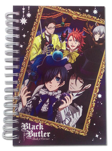 Black Butler Boc - Group & Frame Hardcover Notebook officially licensed Black Butler Book Of Circus Stationery product at B.A. Toys.