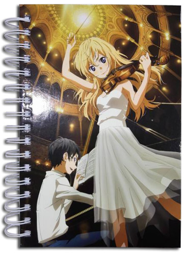 Your Lie In April - Group Music Hardcover Notebook, an officially licensed product in our Your Lie In April Stationery department.