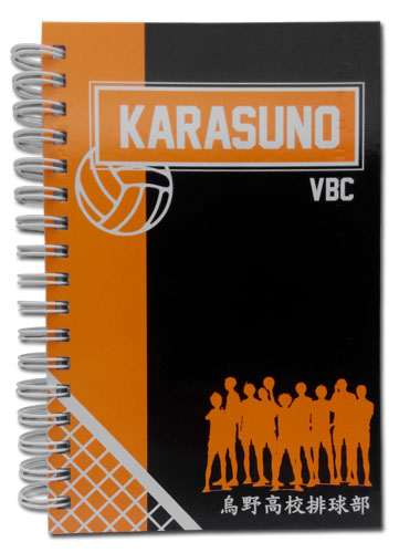 Haikyu!! - Karasuno Vbc Hardcover Notebook officially licensed Haikyu!! Stationery product at B.A. Toys.