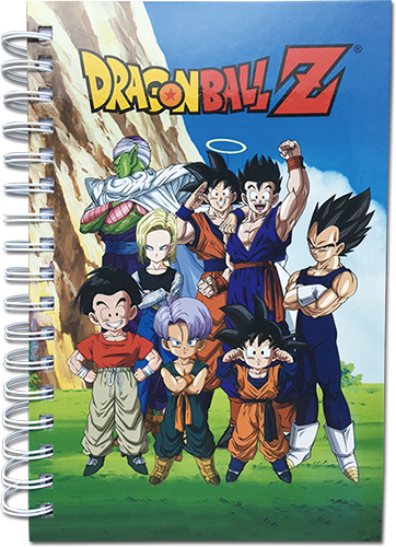 Dragon Ball Z - Group In Lawn Hardcover Notebook officially licensed Dragon Ball Z Stationery product at B.A. Toys.