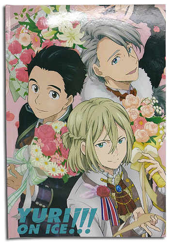 Yuri On Ice!!! - Group Flowers Journal Hardcover Notebook officially licensed Yuri!!! On Ice Stationery product at B.A. Toys.