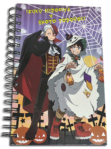 My Hero Academia - Todoroki & Midoriya Halloween Notebook officially licensed My Hero Academia Stationery product at B.A. Toys.