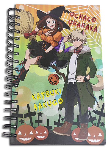 My Hero Academia - S2 Bakugo & Uraka Halloween Notebook officially licensed My Hero Academia Stationery product at B.A. Toys.