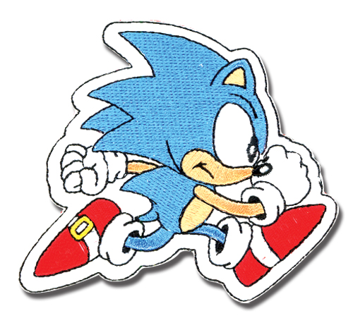 Classic Sonic Running Sonic Patch, an officially licensed Sonic Patch