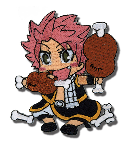 Fairy Tail Natsu Eating Embroidered Patch, an officially licensed Fairy Tail Patch