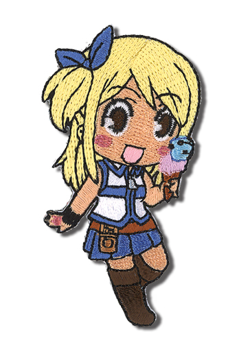 Fairy Tail Lucy Eating Embroidered Patch, an officially licensed Fairy Tail product at B.A. Toys.