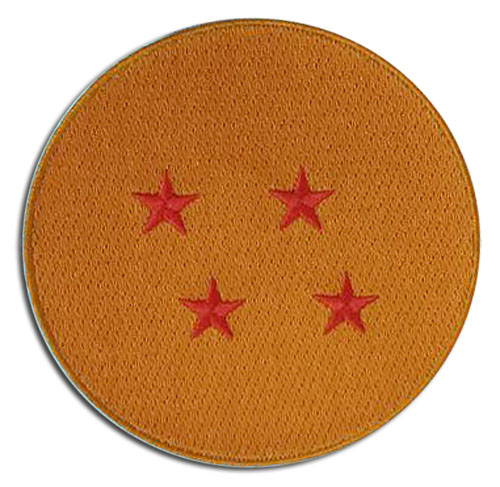 Dragon Ball Z - 4-Star Dragonball Embroidered Patch, an officially licensed product in our Dragon Ball Z Patches department.