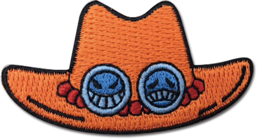 One Piece - Ace Hat Patch officially licensed One Piece Patches product at B.A. Toys.