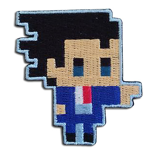 Ace Attorney - Phoenix Pixel Art Patch, an officially licensed Ace Attorney product at B.A. Toys.