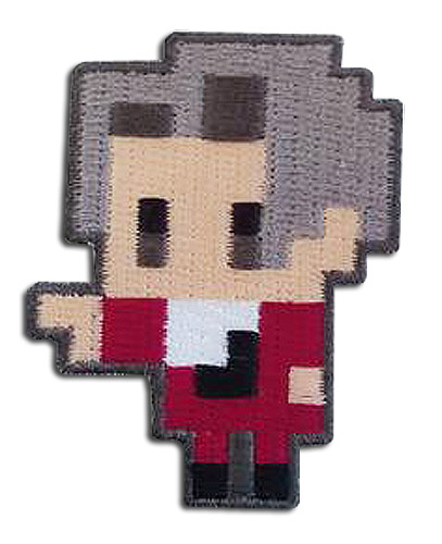 Ace Attorney - Miles Pixel Art Patch, an officially licensed Ace Attorney product at B.A. Toys.
