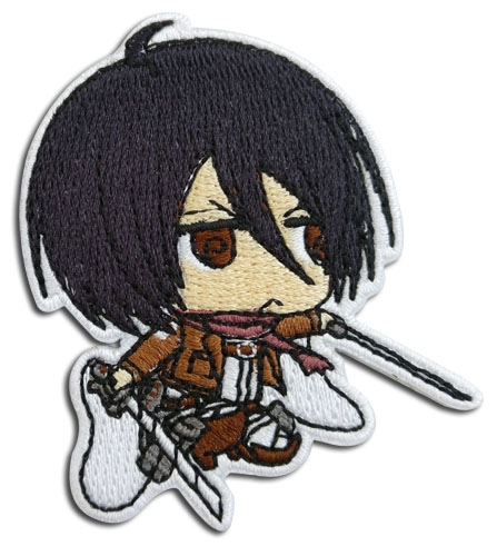 Attack On Titan 2 - Mikasa Sd Patch, an officially licensed Attack On Titan product at B.A. Toys.