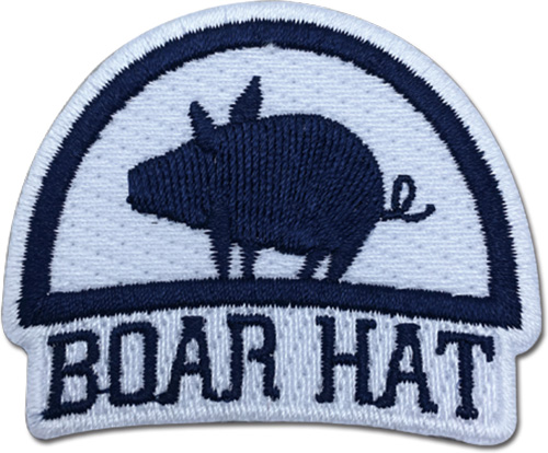 The Seven Deadly Sins - Boar Hat Patch, an officially licensed product in our The Seven Deadly Sins Patches department.