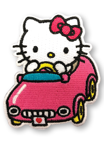 Hello Kitty - Hello Kitty In The Car Patch, an officially licensed product in our Hello Kitty Patches department.