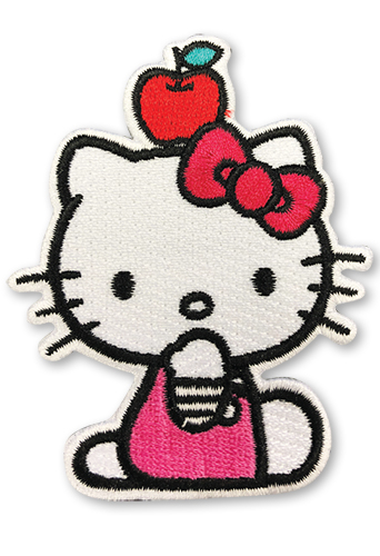Hello Kitty - Apple On The Head Patch, an officially licensed product in our Hello Kitty Patches department.