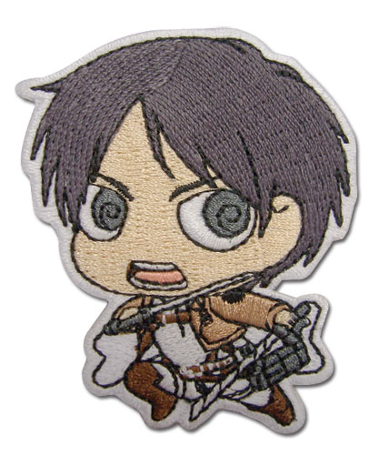 Attack On Titan - Eren Sd Patch, an officially licensed Attack on Titan Patch