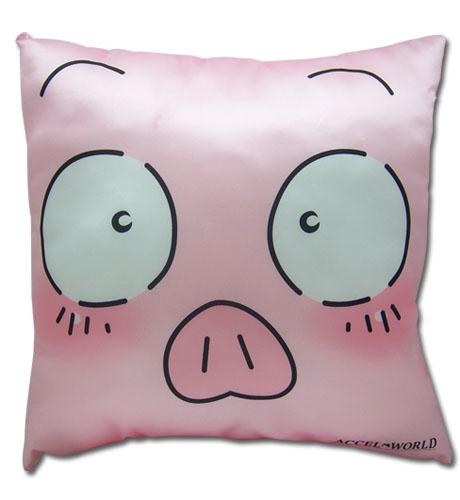 Accel World Haru Face Square Pillow officially licensed Accel World Pillows product at B.A. Toys.