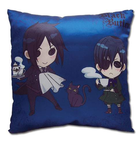 Black Butler - Sd Sebastian & Ciel Pillow, an officially licensed product in our Black Butler Pillows department.