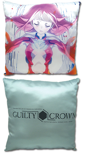 Guilty Crown - Inori Square Pillow officially licensed Guilty Crown Pillows product at B.A. Toys.