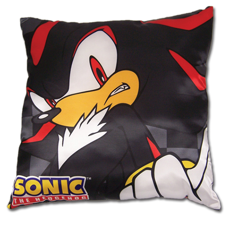 Sonic The Hedgehog Shadow Square Pillow officially licensed Sonic Pillows product at B.A. Toys.