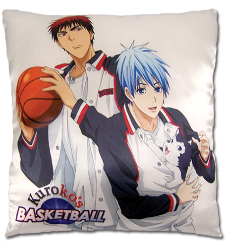 Kuroko'S Basketball - Tetsuya & Kagani Square Pillow officially licensed Kuroko'S Basketball Pillows product at B.A. Toys.