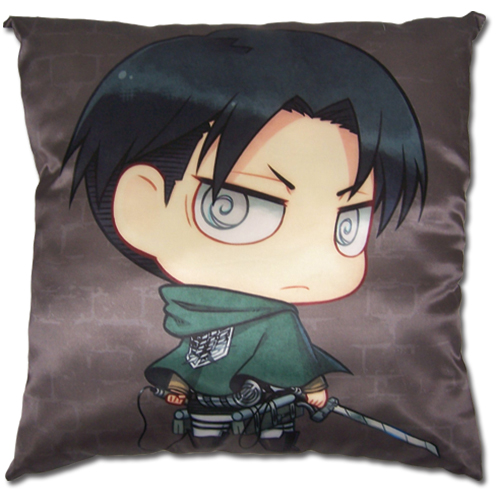 Attack On Titan - Sd Levi Square Pillow officially licensed Attack On Titan Pillows product at B.A. Toys.