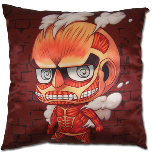 Attack On Titan - Sd Titan Square Pillow, an officially licensed product in our Attack On Titan Pillows department.