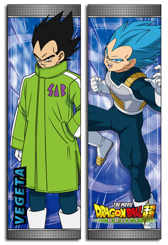 Dragon Ball Super Broly - Vegeta Body Pillow officially licensed Dragon Ball Super Broly Pillows product at B.A. Toys.