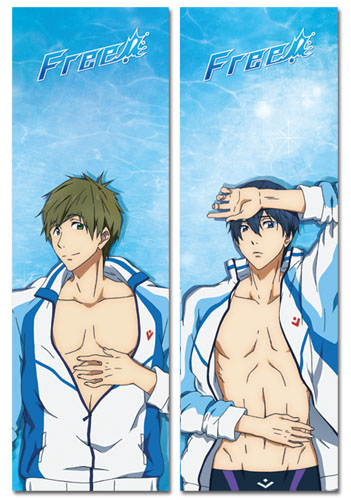 Free! - Haruka & Makoto Body Pillow officially licensed Free! Pillows product at B.A. Toys.