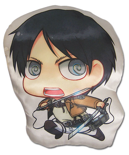 Attack On Titan - Eren Sd Plush Pillow, an officially licensed Attack On Titan product at B.A. Toys.