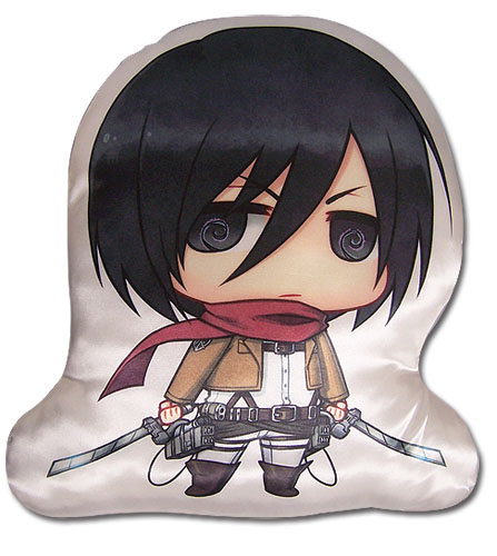 Attack On Titan -Mikasa Sd Plush Pillow, an officially licensed Attack On Titan product at B.A. Toys.