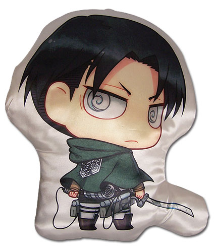 Attack On Titan - Levi Sd Plush Pillow, an officially licensed Attack On Titan product at B.A. Toys.