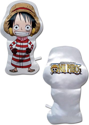 One Piece - Sd Luffy Plush Pillow officially licensed One Piece Pillows product at B.A. Toys.