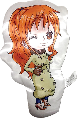 One Piece - Sd Nami Plush Pillow, an officially licensed product in our One Piece Pillows department.