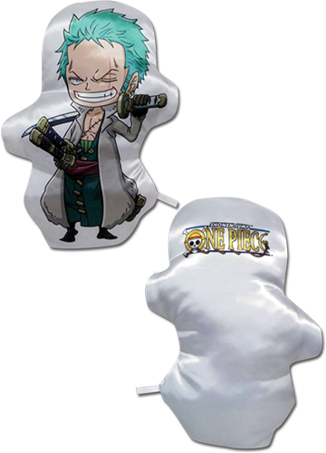 One Piece - Sd Zoro Plush Pillow officially licensed One Piece Pillows product at B.A. Toys.