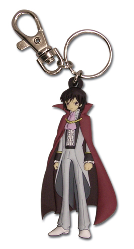 Code Geass Lelouch Pvc Keychain officially licensed product at B.A. Toys.
