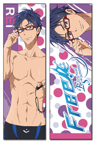 Free! 2 - Rei Body Pillow officially licensed Free! Pillows product at B.A. Toys.