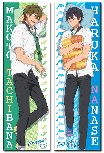 Free! 2 - Haruka & Makoto Body Pillow officially licensed Free! Pillows product at B.A. Toys.