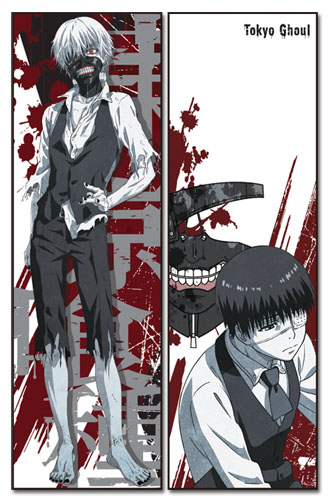 Tokyo Ghoul - Kaneki Body Pillow officially licensed Tokyo Ghoul Pillows product at B.A. Toys.